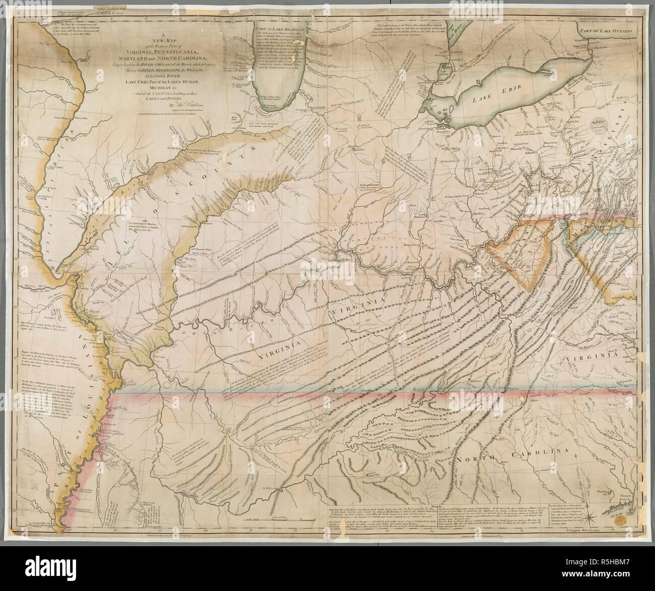 Eine Karte Der Westlichen Teile Von Virginia Pennsylvania