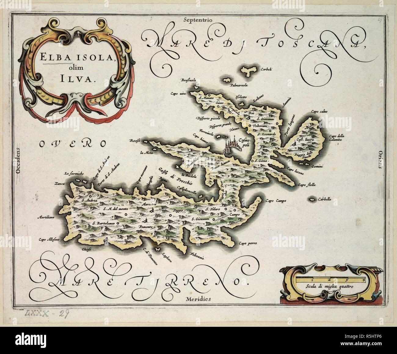 Insel Elba Karte.Die Insel Elba Elba Isola Olim Ilva Karte Der Insel Elba Bild