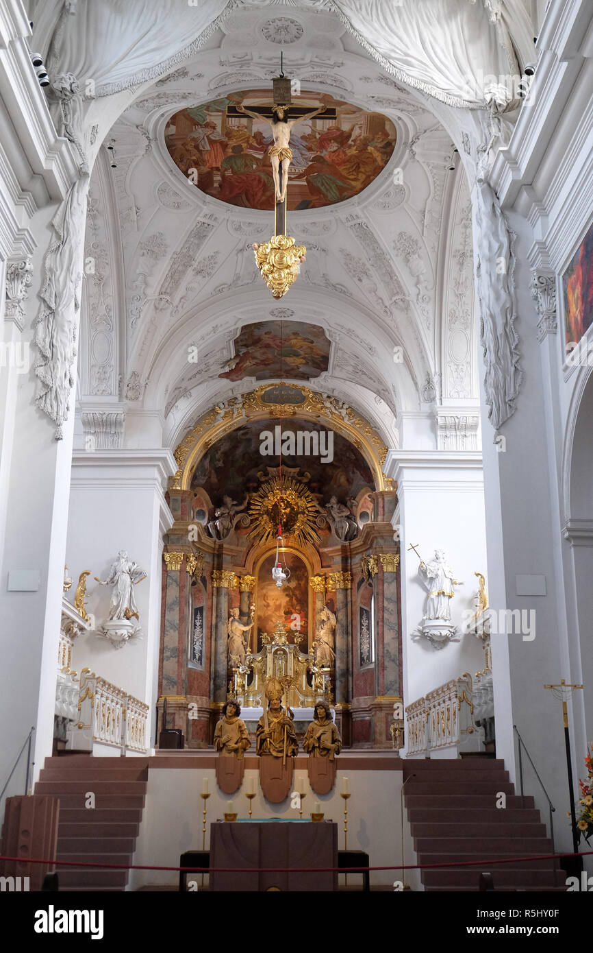 Neumünster Stiftskirche in Würzburg, Deutschland Stockbild