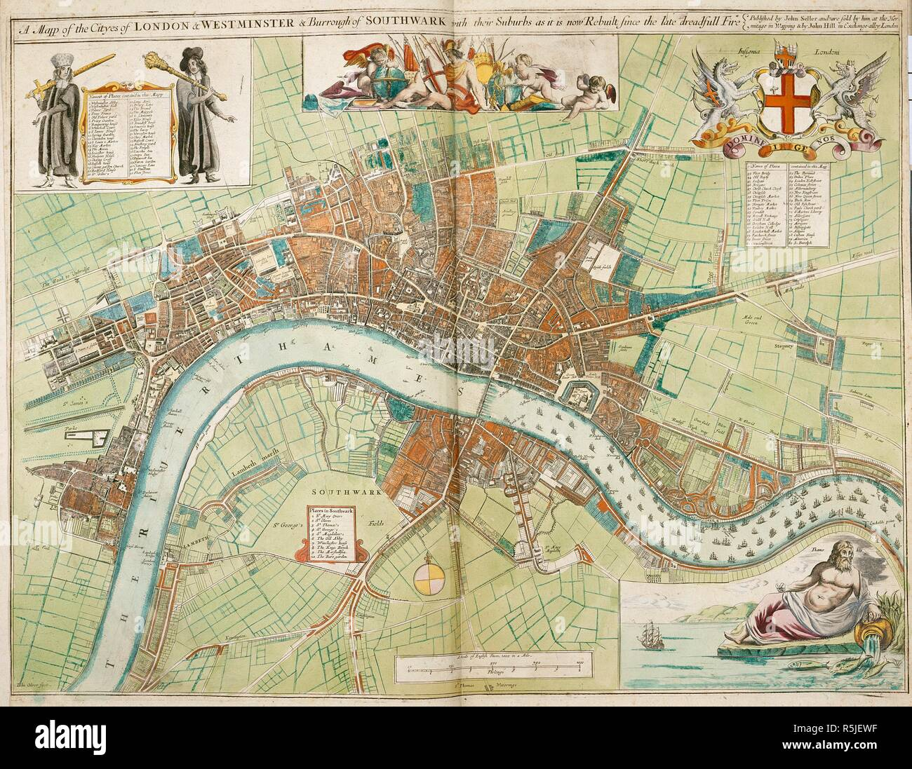 Karte London Stadtteile.Eine Karte Der Stadte London Und Westminster Und Der