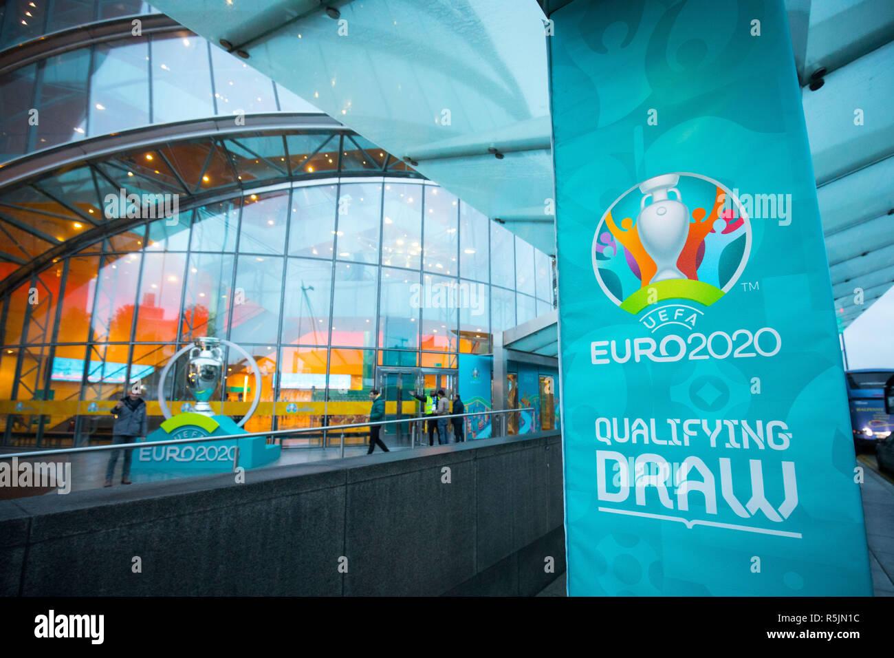 Dublin Irland 01 Dez 2018 Fussball Em Uefa Zeichnen