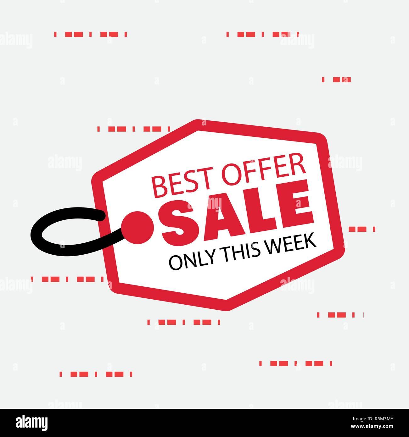 Verkauf Beste Angebot Aufkleber Hintergrund Vector Illustration
