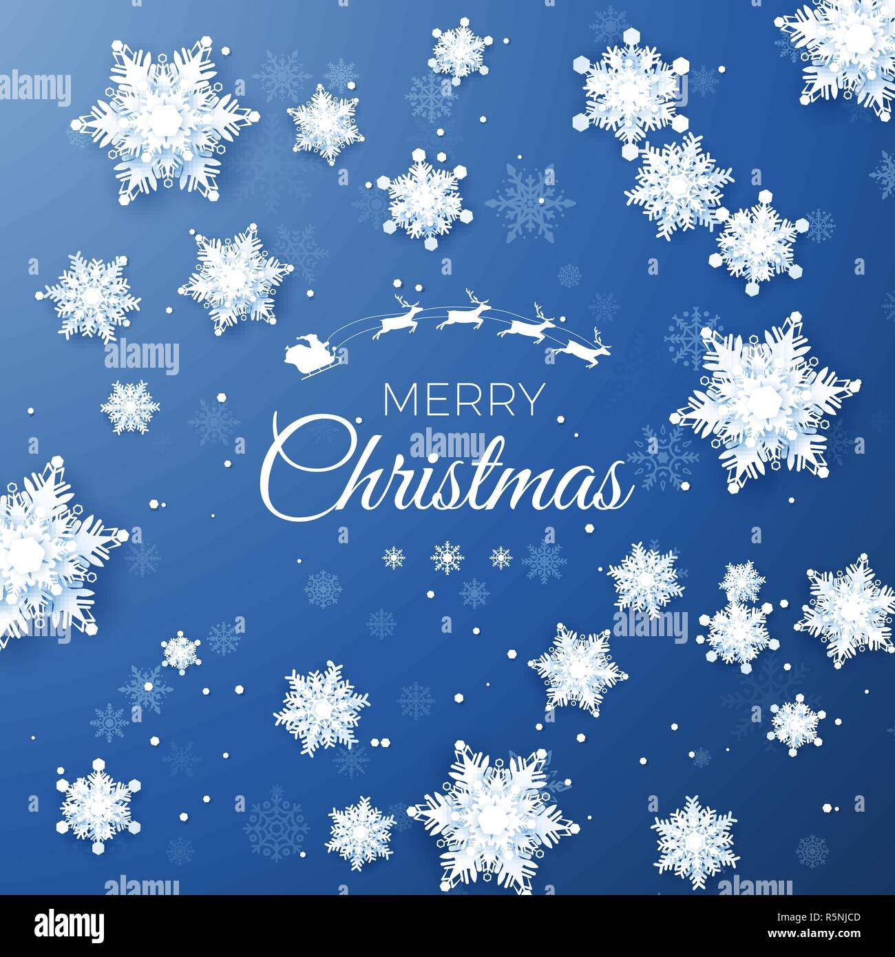 Frohe Weihnachten Text Karte.Frohe Weihnachten Gruss Karte Origami Schneefall White