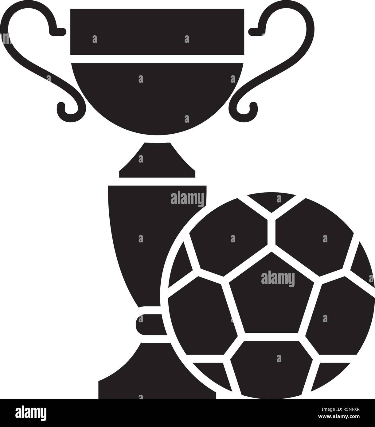 Fussball Spielen Feld Schwarze Symbol Vektor Zeichen Auf