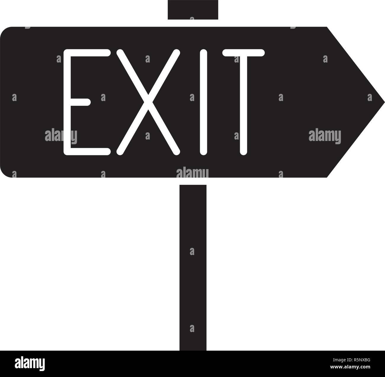 Ausgabe schwarze Symbol, Vektor Zeichen auf isolierten Hintergrund. Ausgabe Konzept Symbol, Abbildung Stockbild