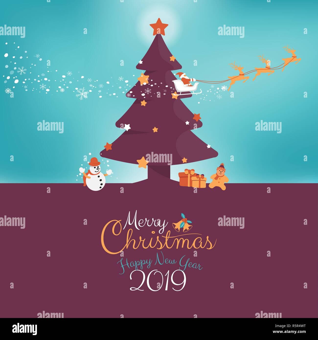 Weihnachten Urlaub 2019.Frohe Weihnachten Und Ein Glückliches Neues Jahr 2019 Urlaub