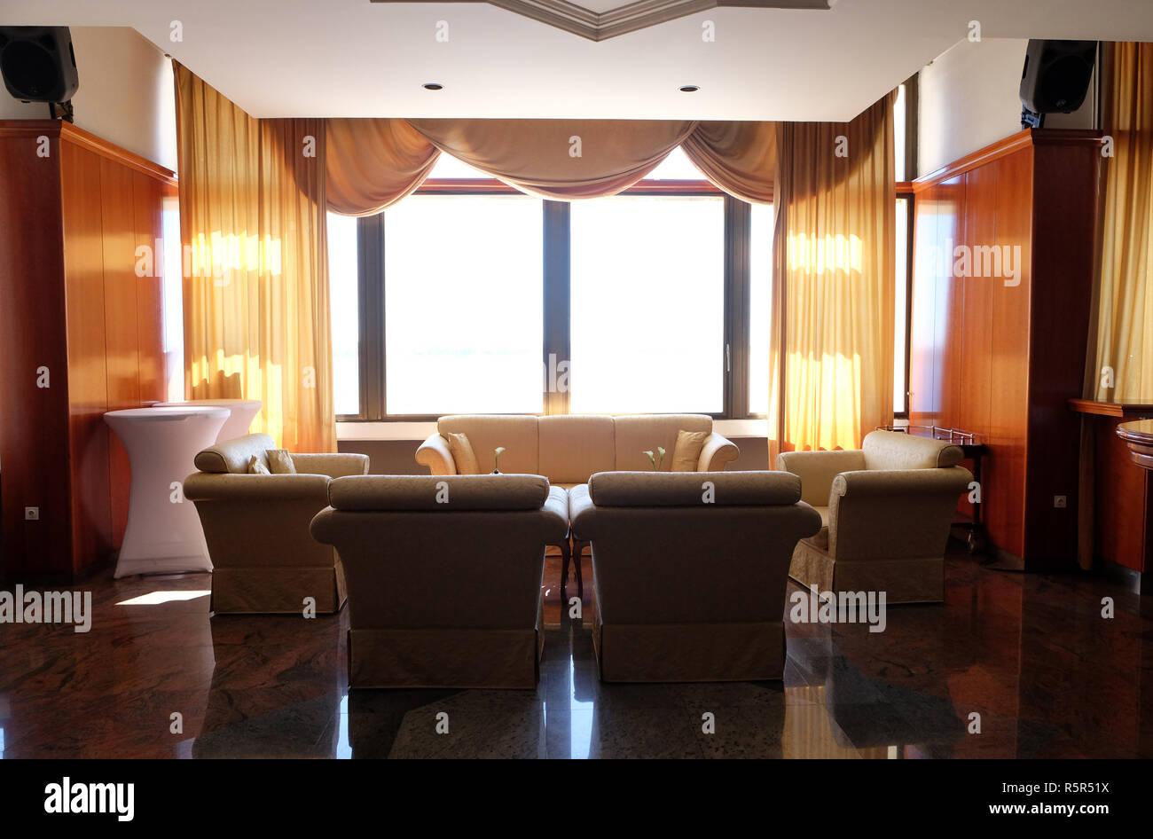 Ein Luxus Resort Hotel Lobby Und Wohnzimmer Lounge Im Grand Hotel