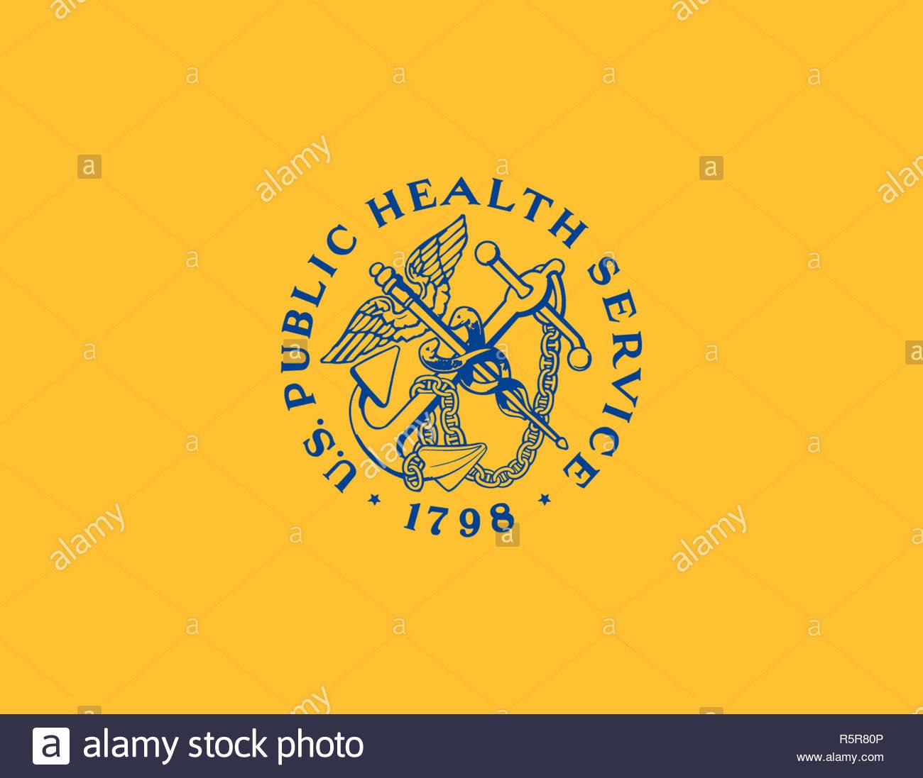 United States Public Health Service logo Zeichen Stockbild