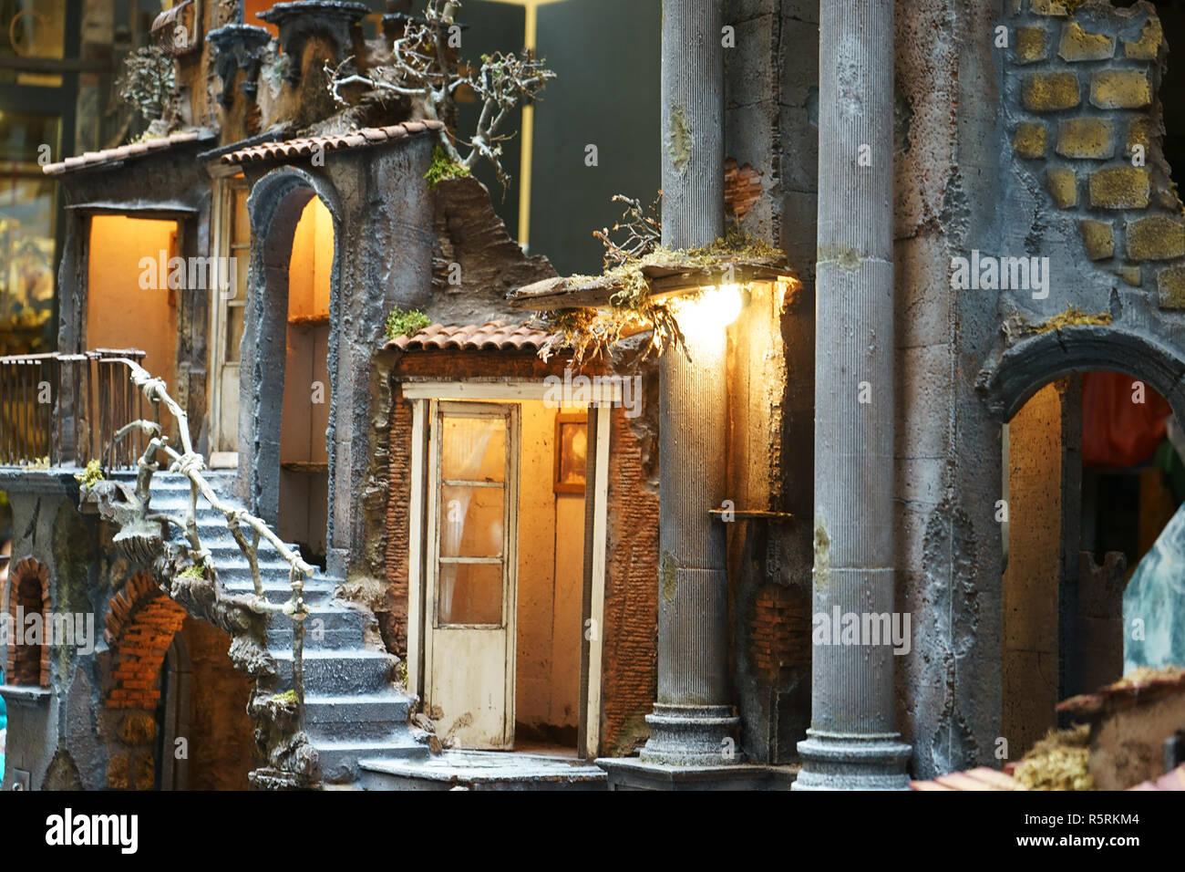 neapel italien ansicht der 39 weihnachten alley via san. Black Bedroom Furniture Sets. Home Design Ideas