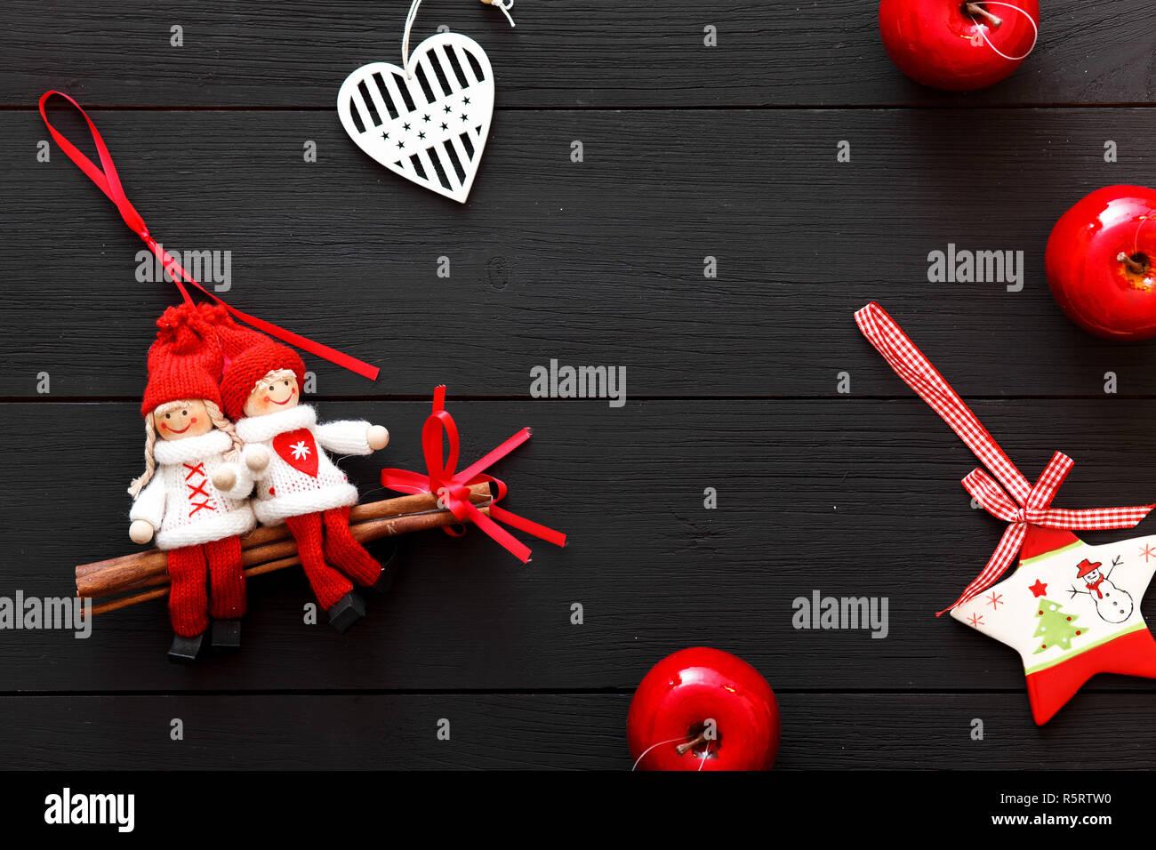 Winterurlaub Weihnachten 2019.Weihnachten Handgefertigte Dekorationen Herzen Spielzeug Frohes