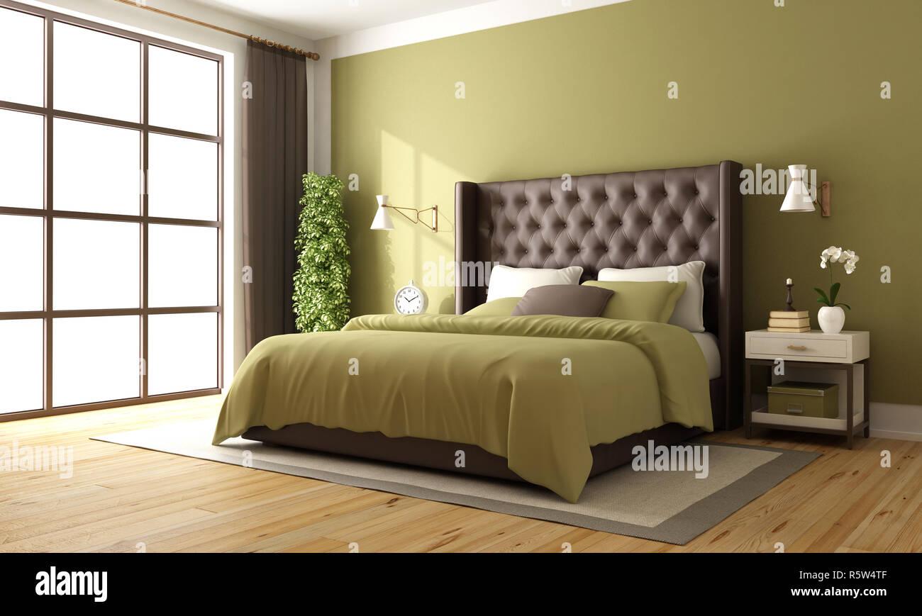 Classic Braun Und Grün Schlafzimmer