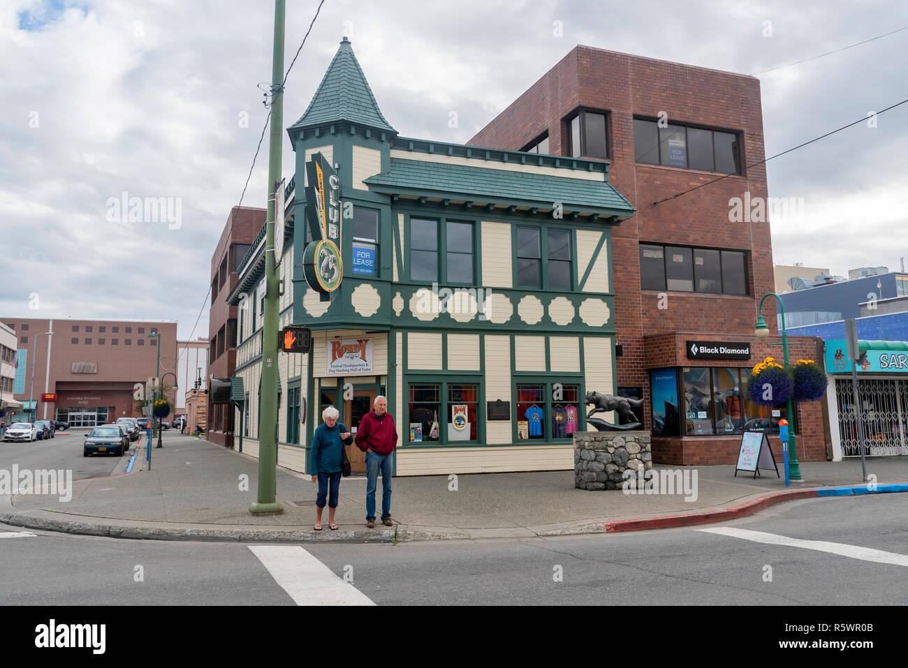 Strassen Von Anchorage Gemeinde Von Anchorage Alaska Usa Stockfotografie Alamy