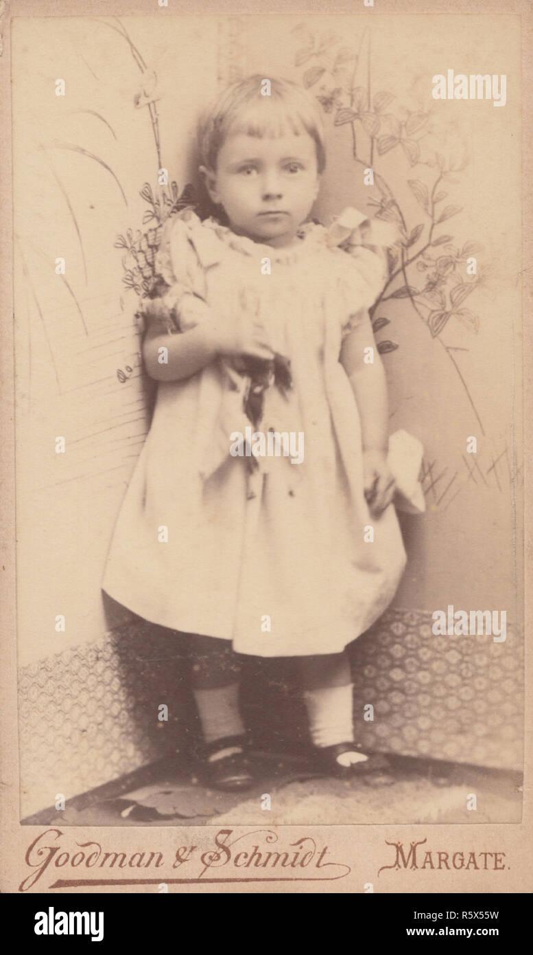 1894 Lamberhurst Kent CDV Carte De Visite Eines 18 Monate Alten Viktorianischen Madchen Namens Mabel Spencer Troughton