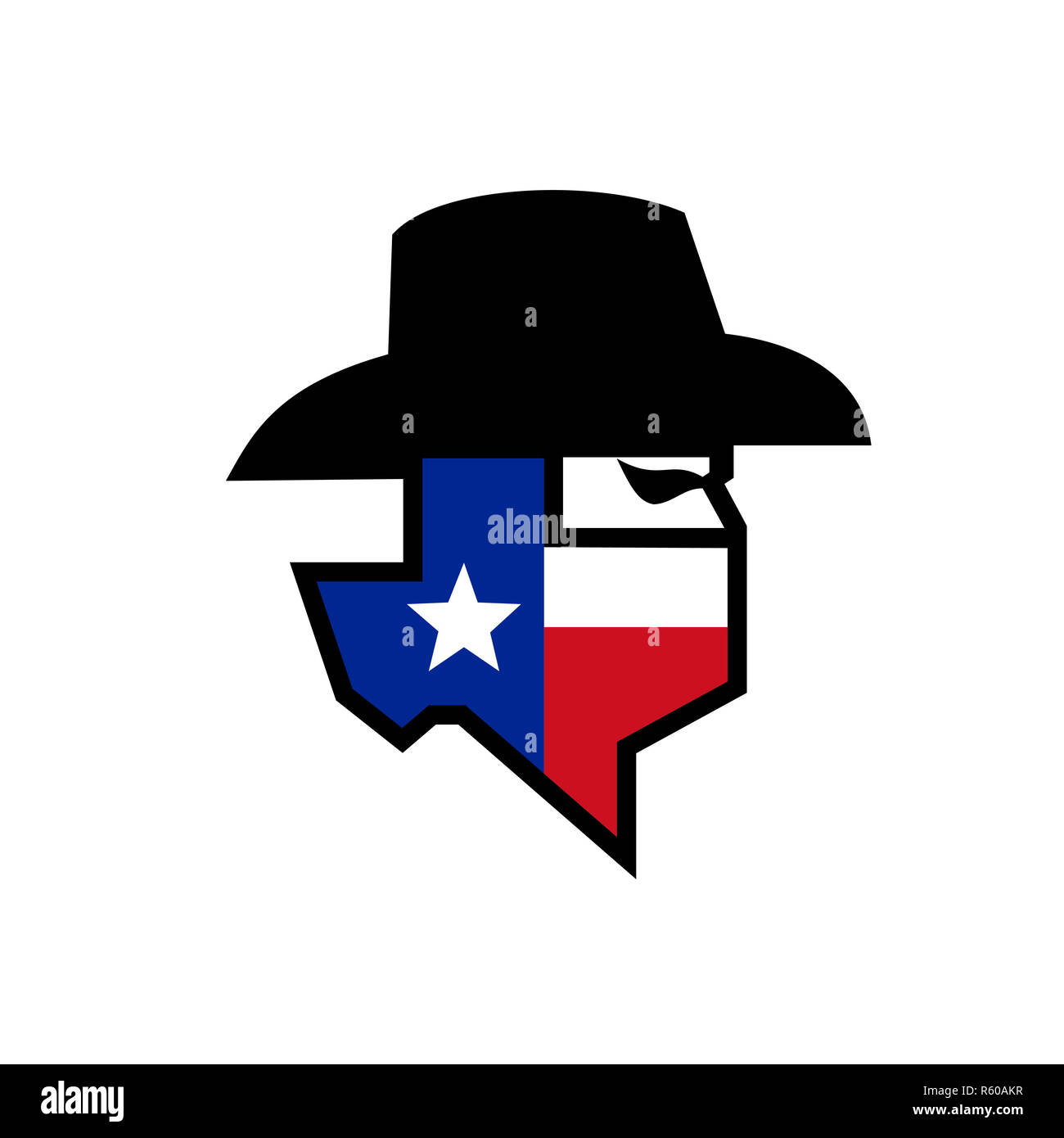 Mask Or Bandana With Texas Lone Star Flag Viewed Stockfotos Mask