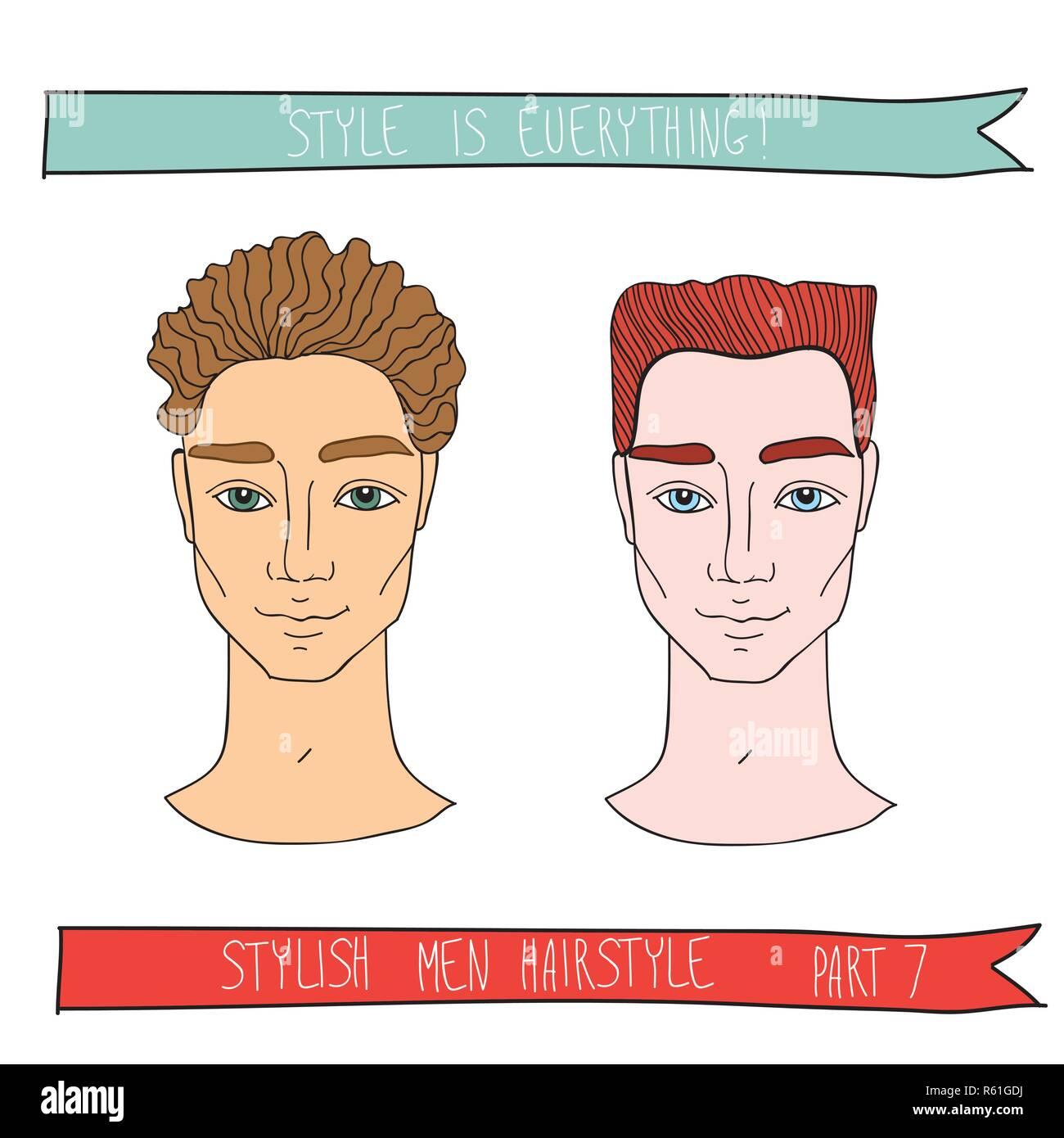 Schoner Mann Schicke Frisur Mode Kosmetik Und Friseursalon