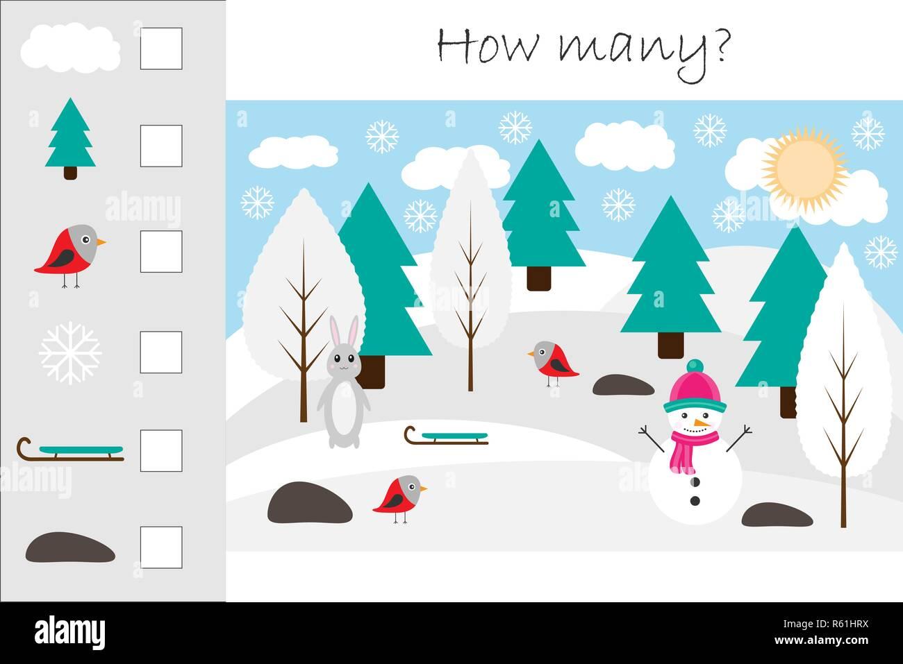 Wie Viele Zählen Spiel Mit Weihnachten Bild Für Kinder Pädagogische