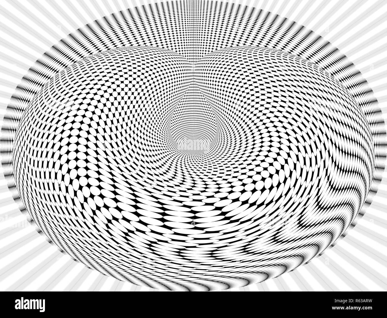 Computer erzeugte geometrische Op-Art-Bild (Optical Art) Stockbild