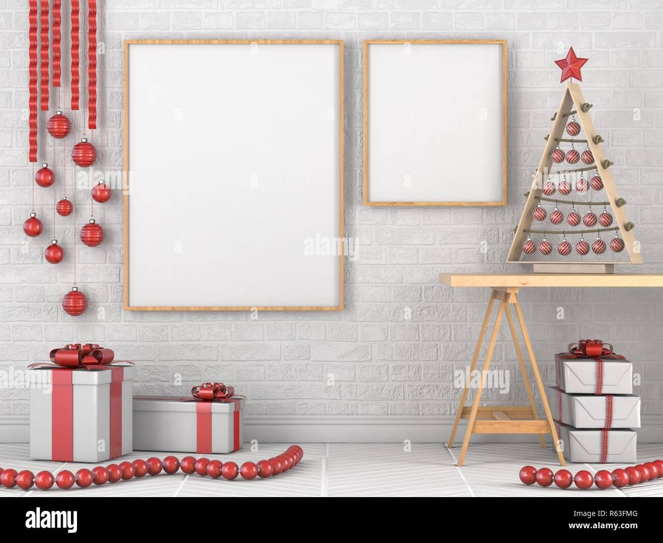 Bis Mock Leer Holz Bilderrahmen Weihnachten Dekoration Und