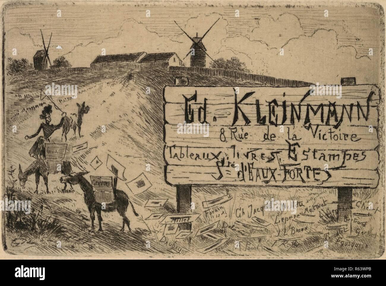 Visitenkarte Von Publisher édouard Kleinmann Maße 8 Cm X