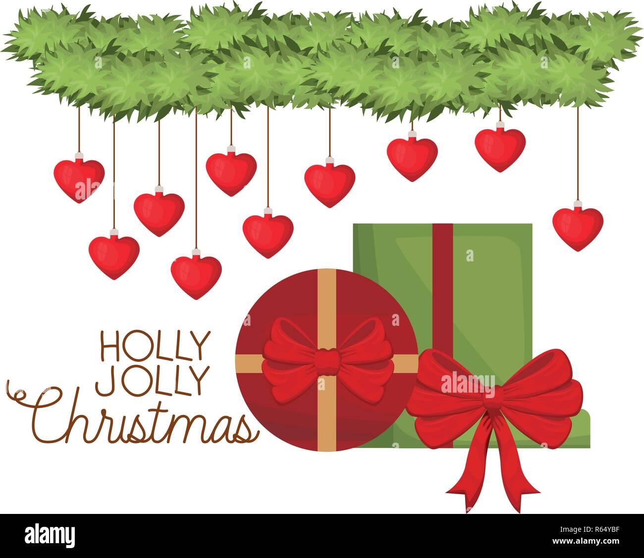 Kranz Aus Weihnachtskugeln.Kranz Mit Weihnachtskugeln Und Geschenke Vektor Abbildung