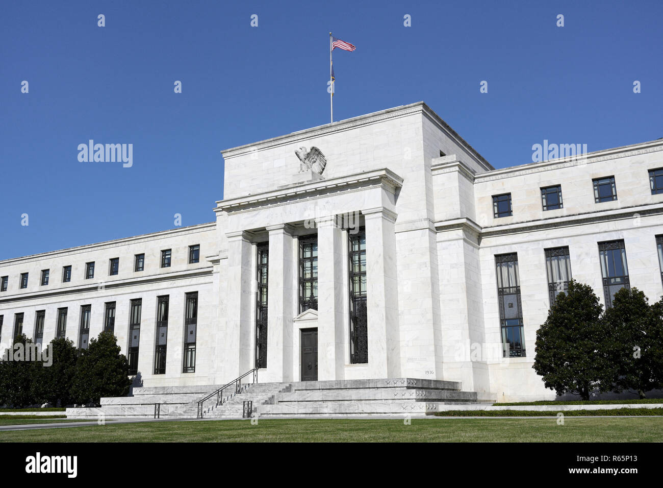 Federal Reserve Bank Gebäude, Washington DC Stockbild