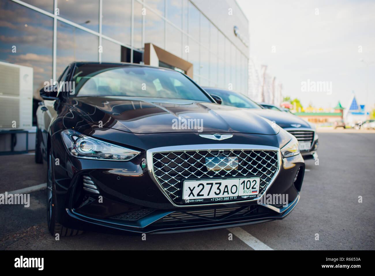 UFA, Russland - 23. Mai: Modell auto Genesis G70 Stockbild