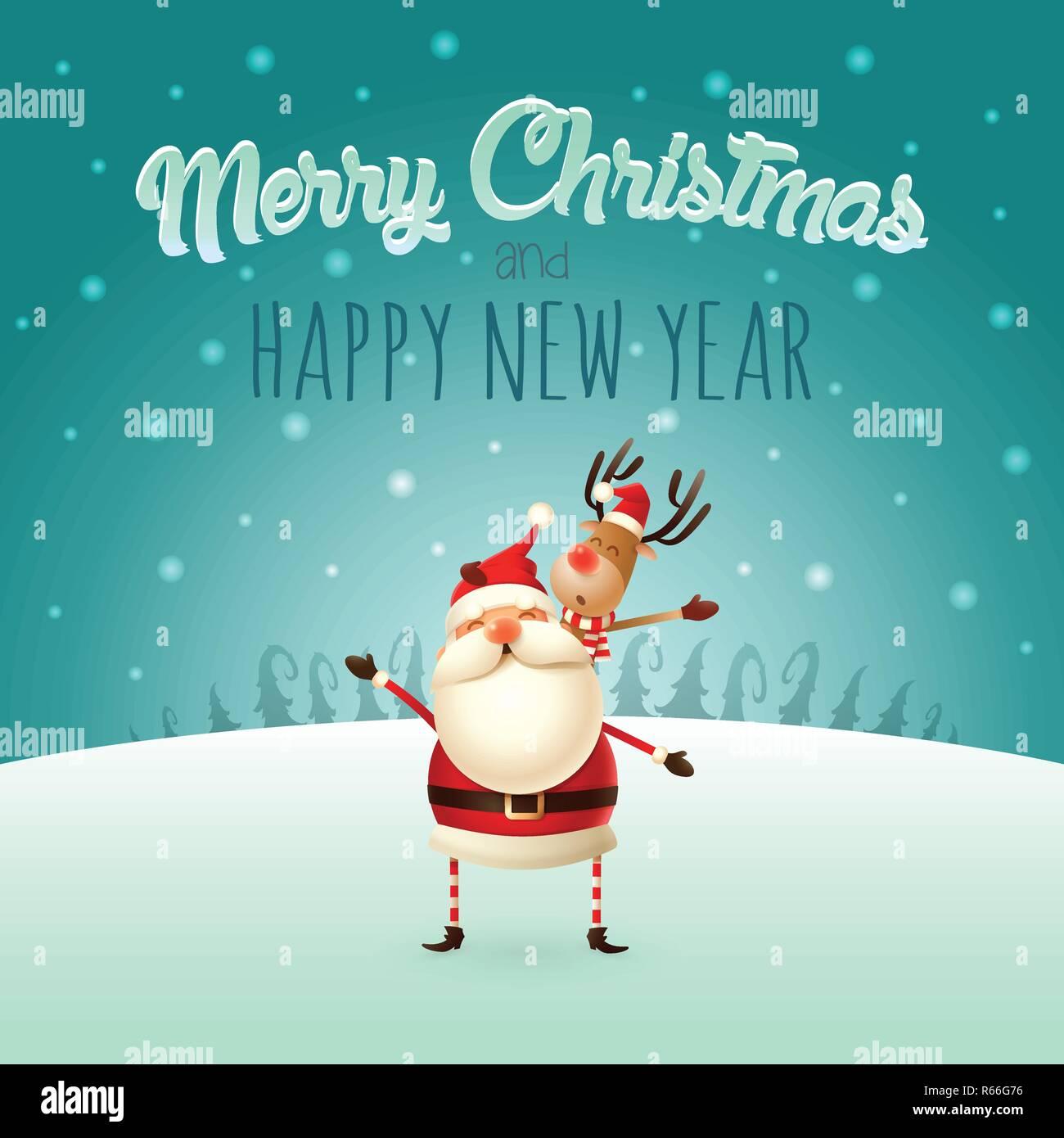 Frohe Weihnachten Einen Guten Rutsch Ins Neue Jahr.Frohe Weihnachten Und Guten Rutsch Ins Neue Jahr Weihnachtsmann