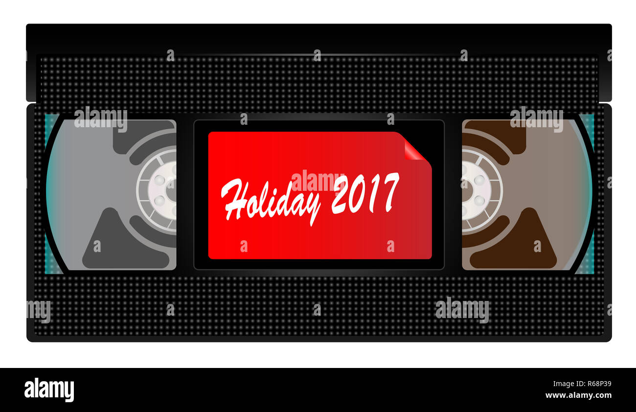 Urlaub 2017 Video Kassette Stockbild
