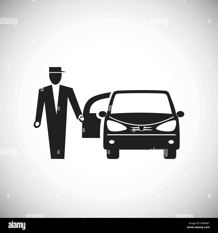 Verbazingwekkend Hochzeit auto Symbol auf weißem Hintergrund für Grafik- und QL-18