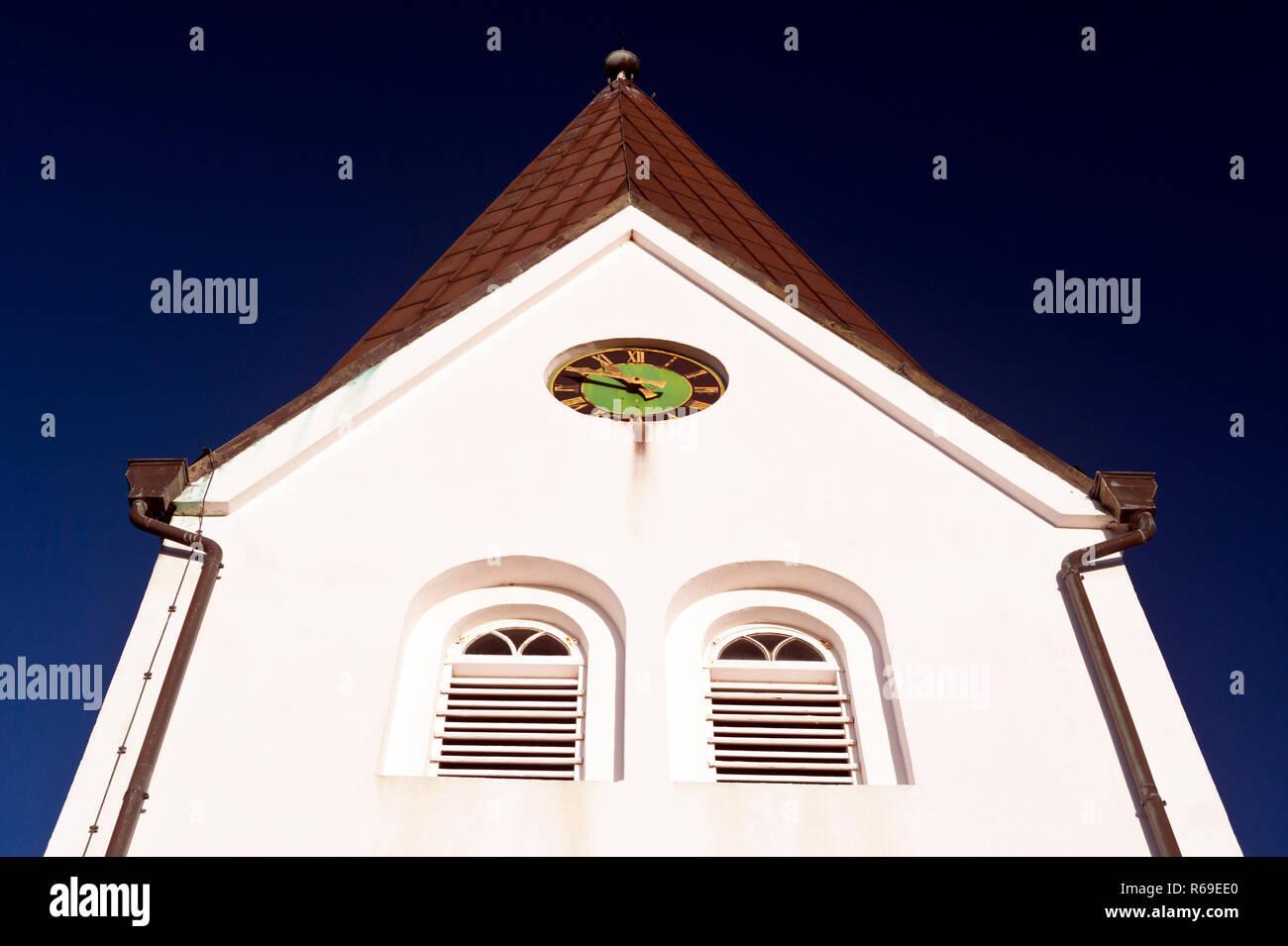Kirche auf Amrum Stockbild
