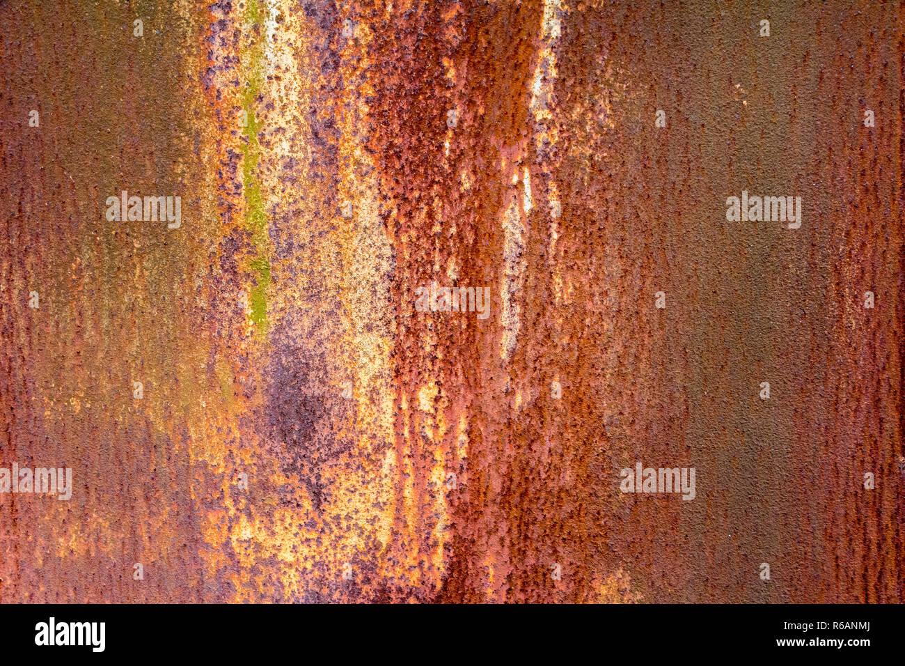 Abstrakte verwitterten Rusty metallischen Hintergrund Stockbild