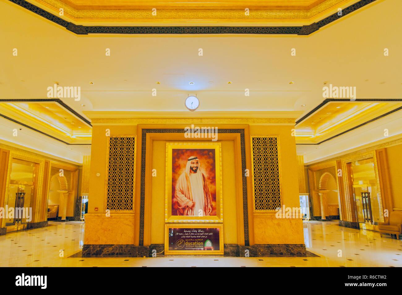Halle Dekoration Im Emirates Palace Hotel Ein Luxuriöses Und Den