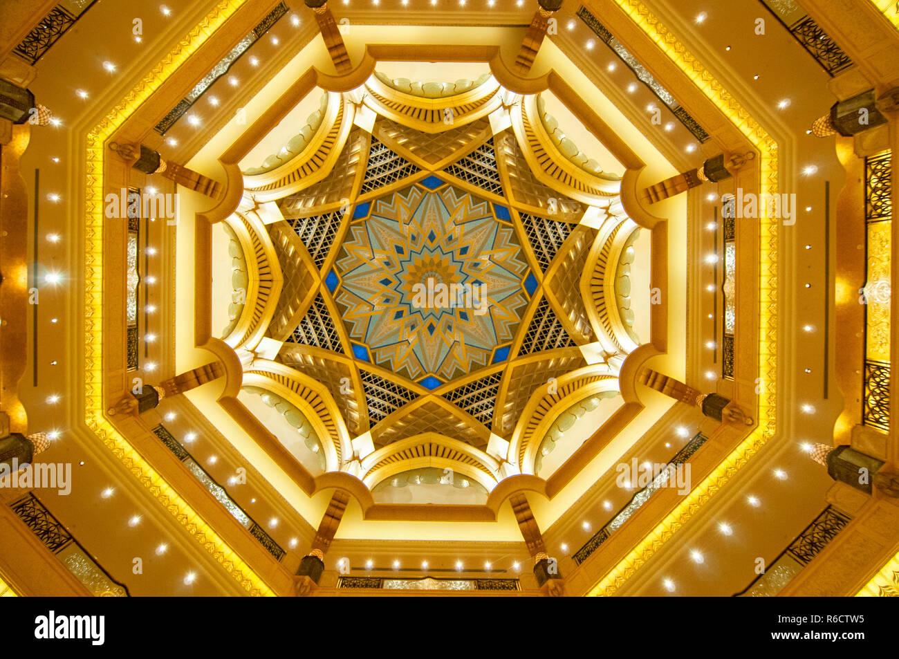 Dome Dekoration Im Emirates Palace Hotel Ein Luxuriöses Und Den