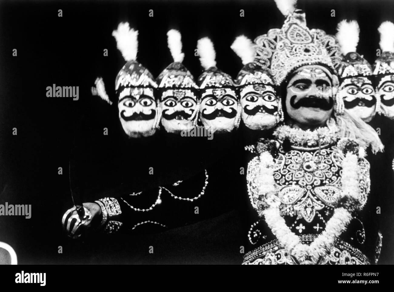 Dämonenkönig Ravana, Stockbild