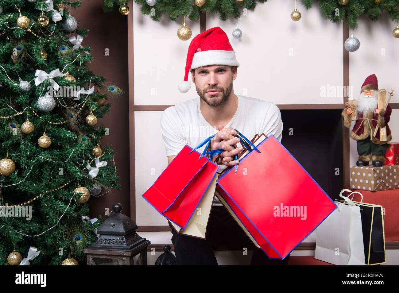 Weihnachtsgeschenk Weihnachten.Am Morgen Vor Weihnachten Lieferung Weihnachtsgeschenke Santa Mann