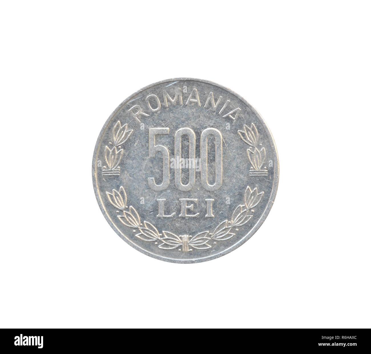 Jahrgang 500 Lei Münze Von Rumänien Gemacht Zeigt Die Numerischen