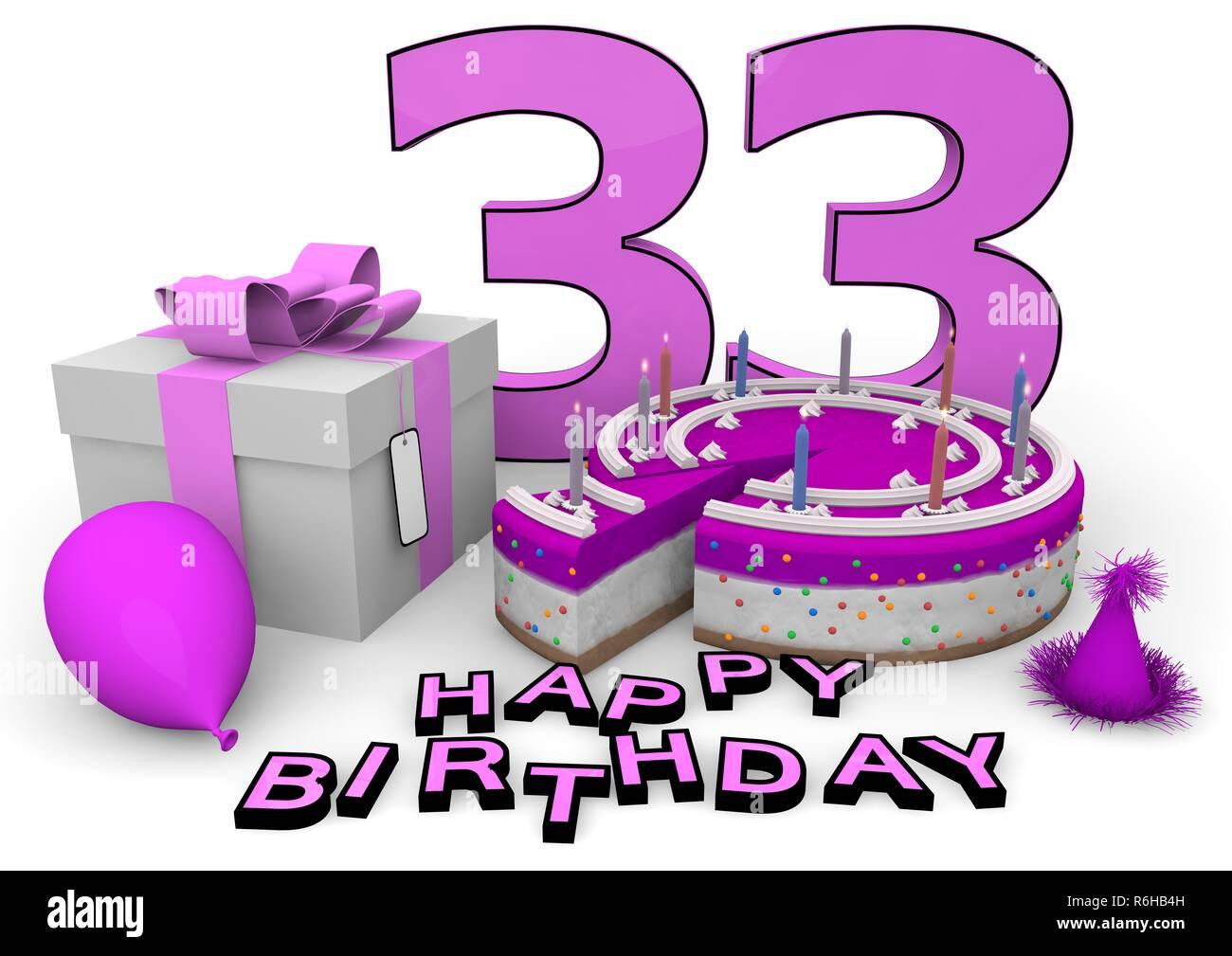 Happy Birthday 33 Stockfotos Happy Birthday 33 Bilder Alamy