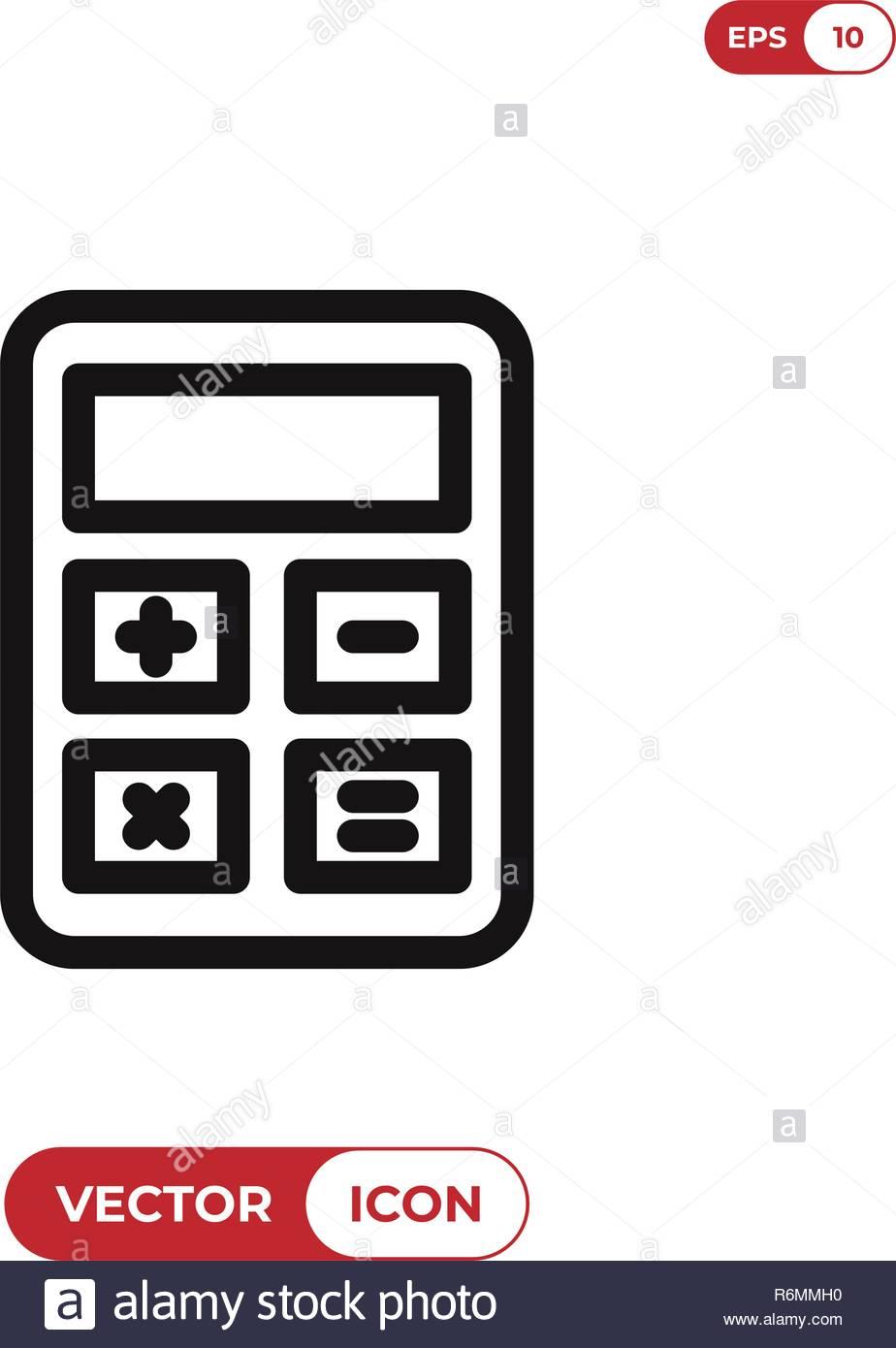 Taschenrechner Vektor Icon Vektor Abbildung Bild 227877916 Alamy