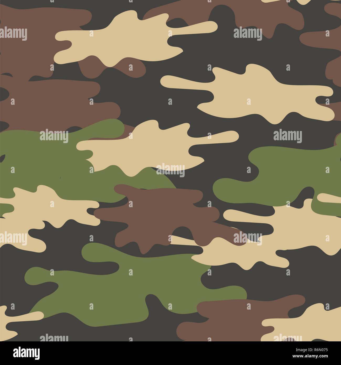 Armee Tarnung Nahtlose Muster Schwarz Und