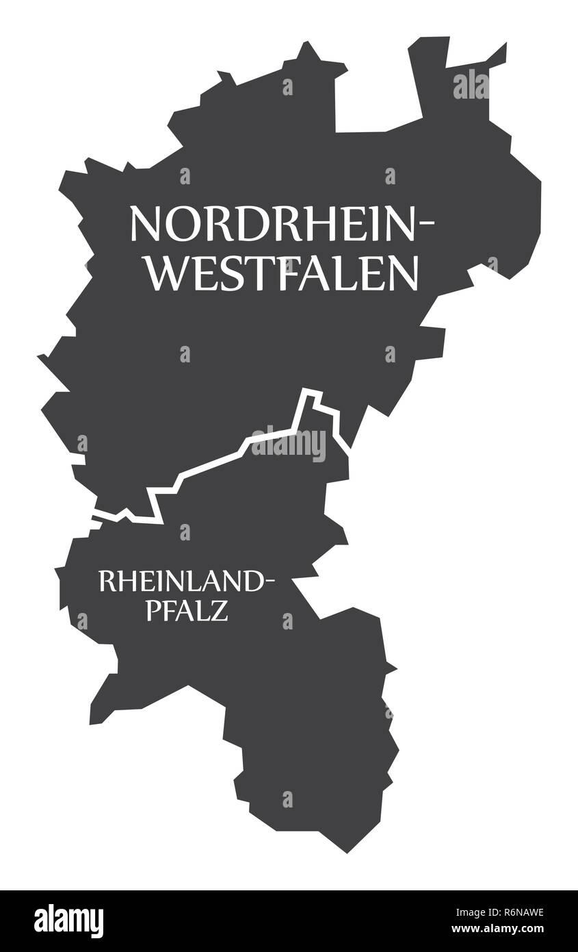 Nordrhein Westfalen Rheinland Pfalz Bundeslander Karte Von