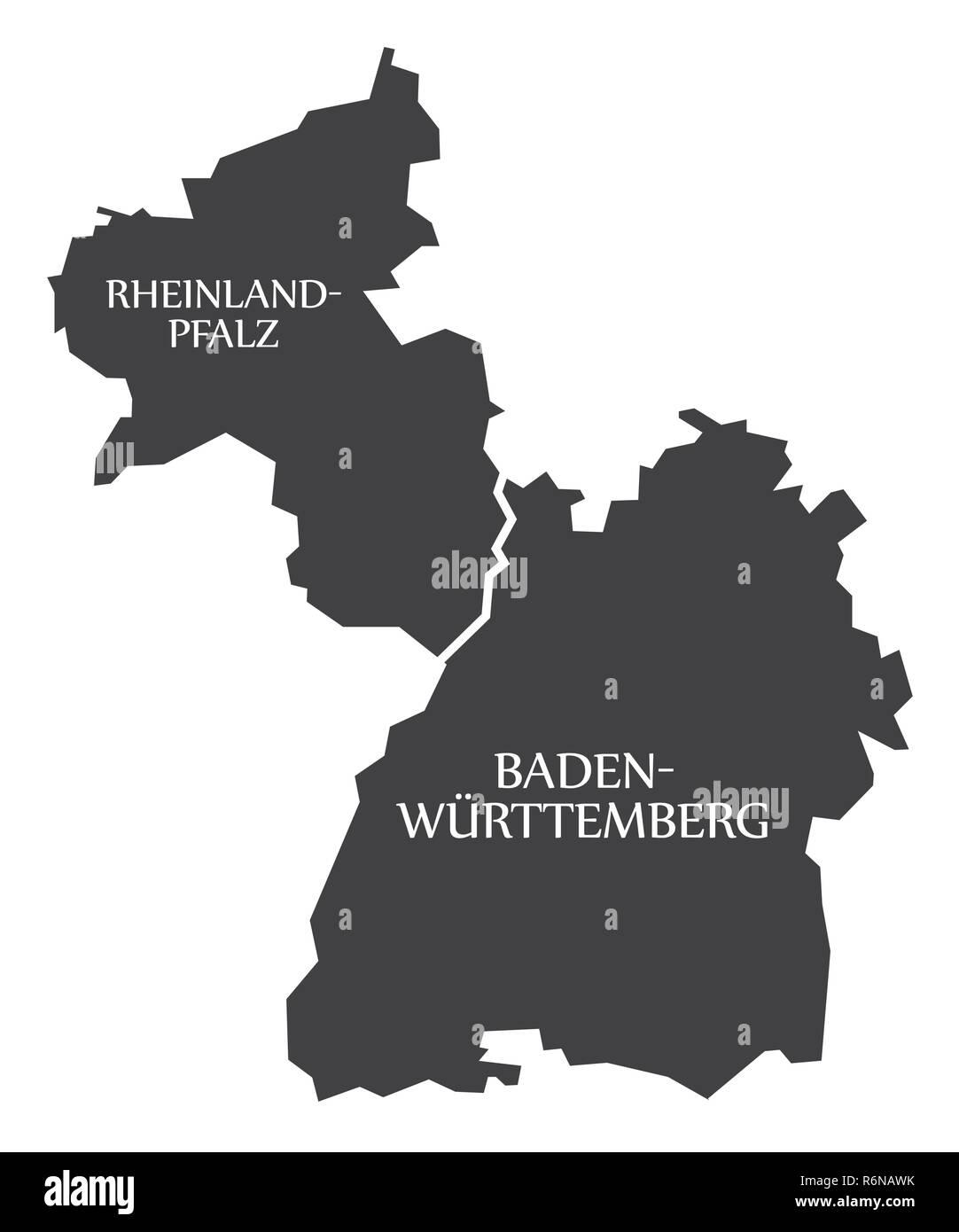 Karte Baden Württemberg Rheinland Pfalz.Rheinland Pfalz Baden Württemberg Bundesländer Karte Von
