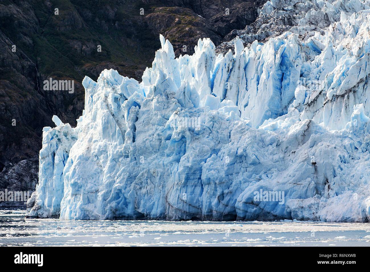 Alaska, USA: Überraschung Gletscher im Prince William Sound (close-up) Stockfoto