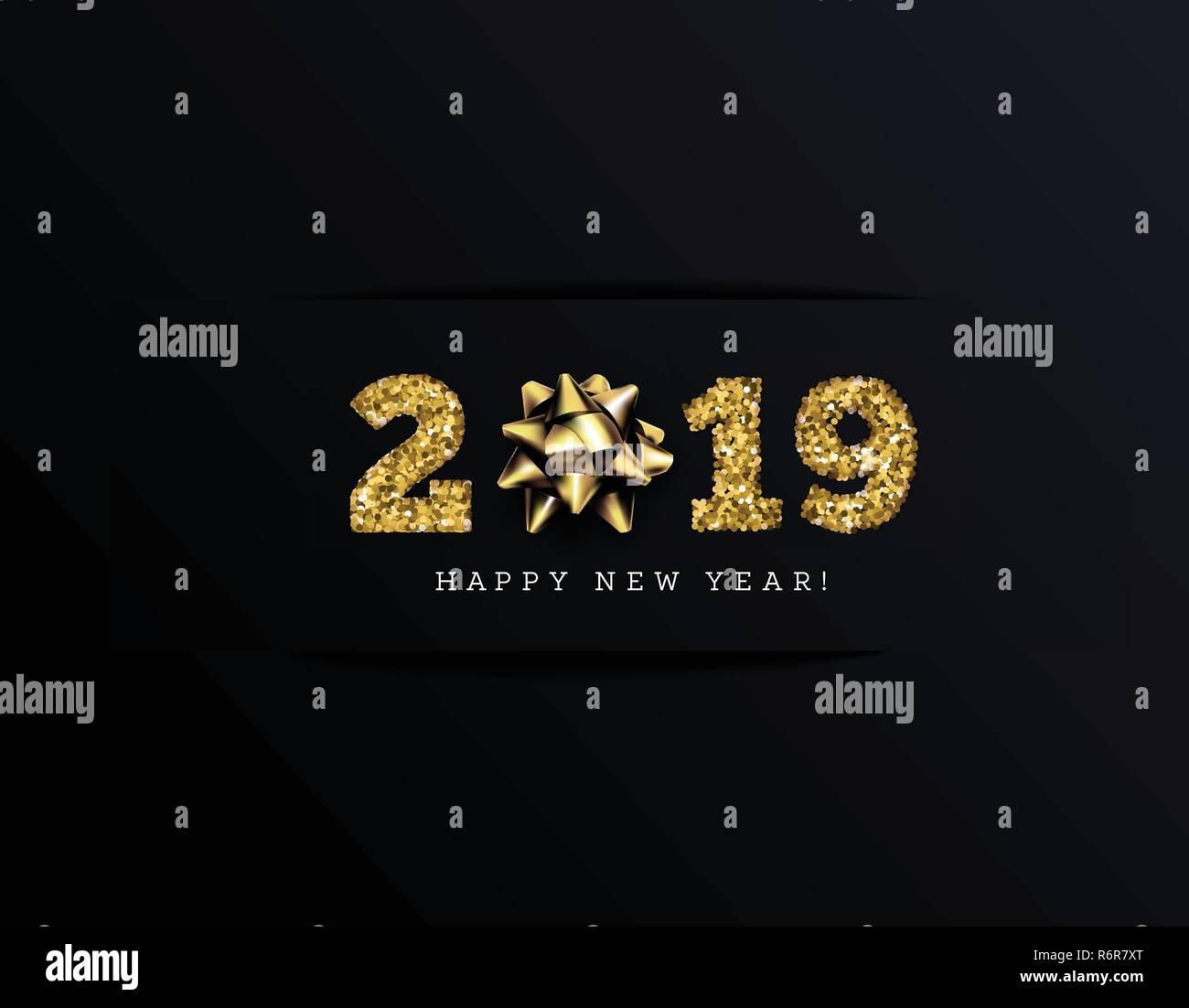 Herzlichen Glückwunsch Zu Den 2019 Frohes Neues Jahr Urlaub