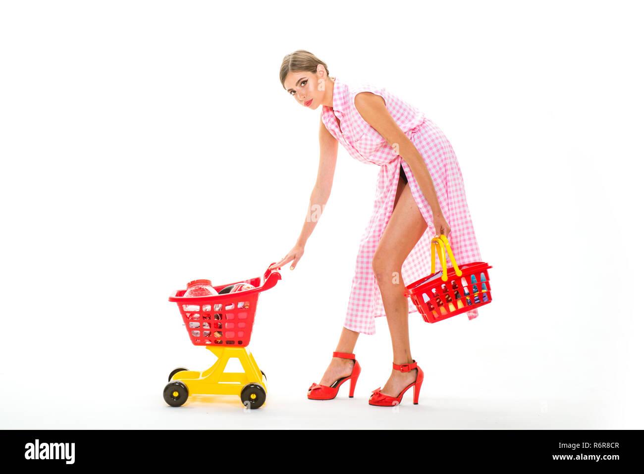 Shopping ist ihre Leidenschaft. Verbringen eine tolle Zeit