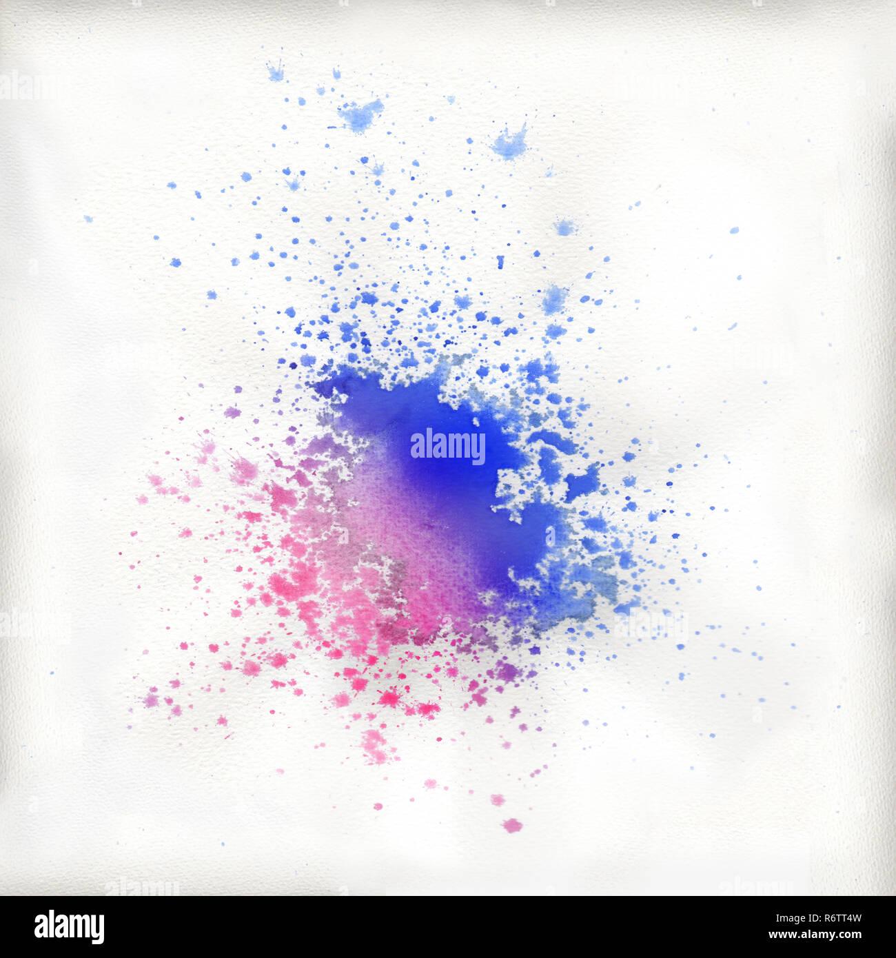 Farben aus einem Blob entstanden Stockbild