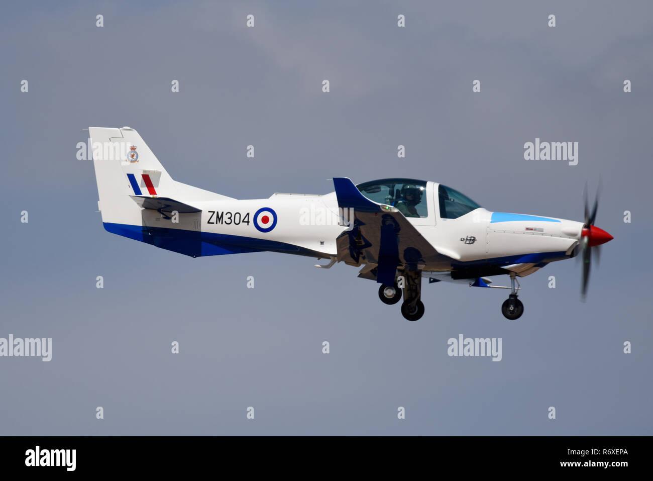 Grob 120 Ebene der Affinität Flying Training Services Ltd trainer Ebene für die Royal Air Force Royal International Air Tattoo, RIAT RAF Fairford Airshow Stockbild