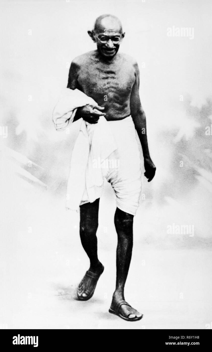 Mahatma Gandhi (1869-1948), Führer der indischen Kampagne für Home Rule MODEL RELEASE NICHT VERFÜGBAR Stockbild