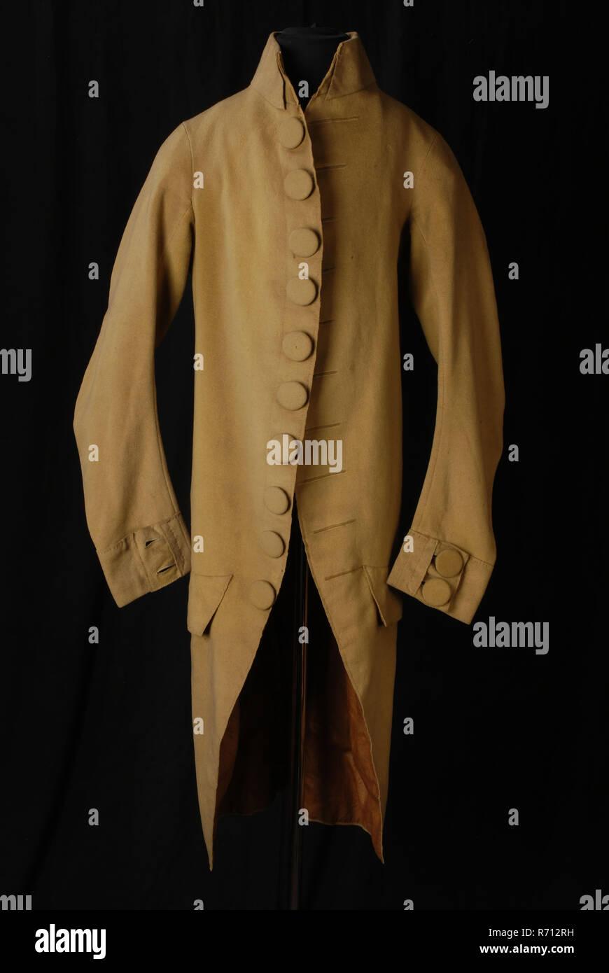 a929f94b1291 Kleid von grünlich-gelben Tuch, mit Leinen gefüttert, Pyjama rock Mantel  Jacke kleid