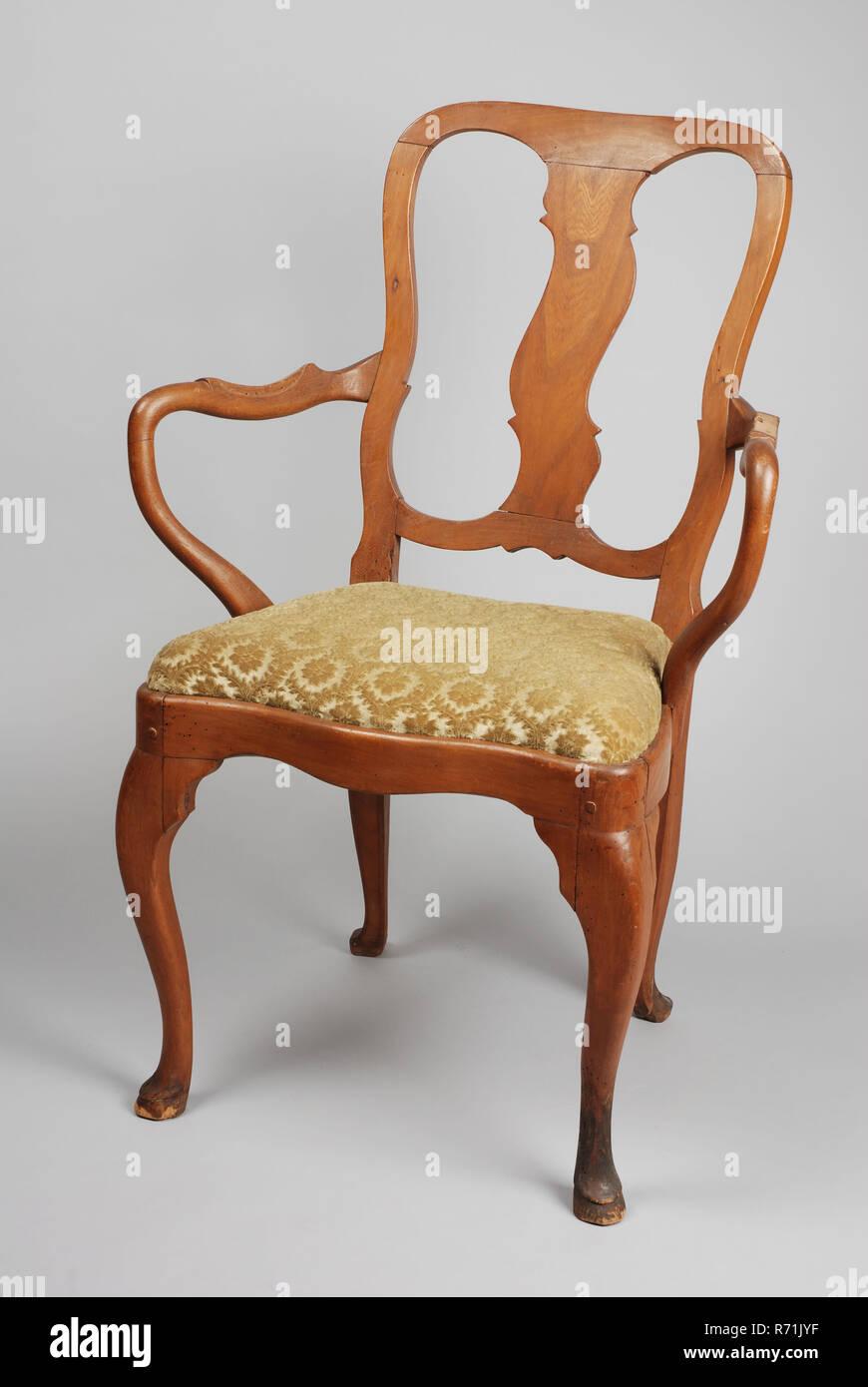 Elfenbein Holz Rokoko Sessel Sessel Stuhl Mobel Mobel