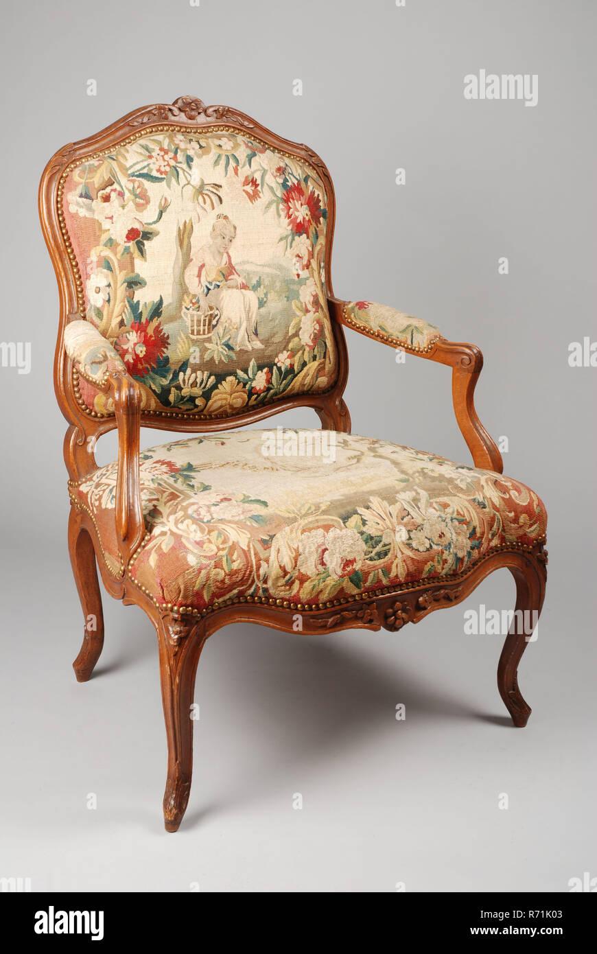 Buchenholz Rokoko Sessel Sessel Sessel Stuhl Sitz Möbel